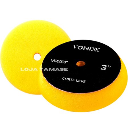 Boina De Espuma Vonixx Corte Leve Amarela 3'' Para Polimento