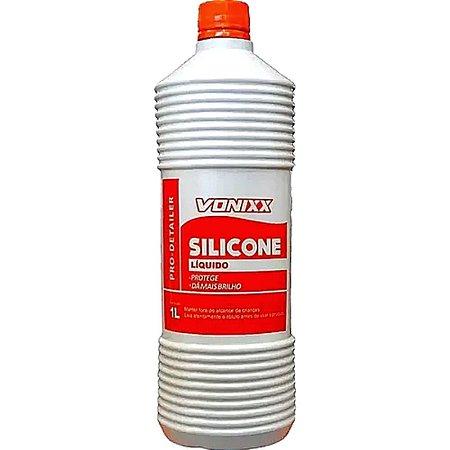 Silicone Líquido Vonixx Proteção e Brilho em Plásticos Borrachas Painéis e Parachoques