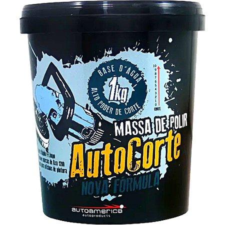 Massa De Polir Auto Corte 1kg Autoamerica Brilho Corte