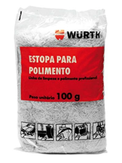 Estopa Macia e Fina Wurth 100g - Acabamento e Polimento
