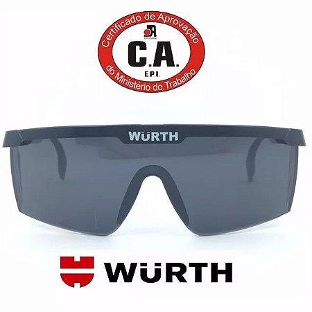 Óculos de Proteção Wurth com C.A 34082 EPI RJ - Fume Escuro