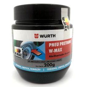 Pneu Pretinho W-Max 200g Wurth Abrilhantador de pneus