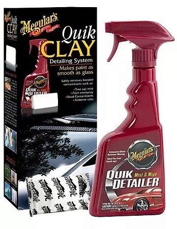 Kit Quik Clay Bar Pasta E Tok Final Automotivo Meguiars