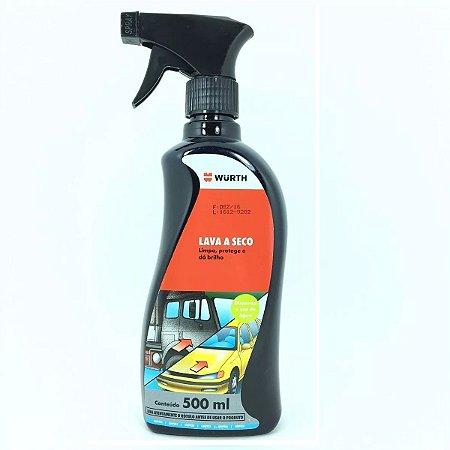 Lava a Seco Spray Automotivo Com Cera 500ml Wurth