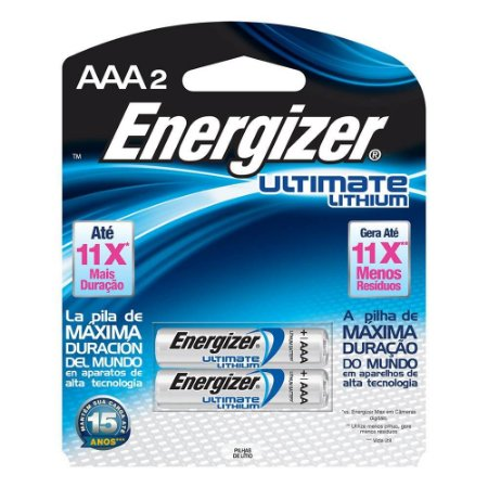 pilha Aaa2 1.5v Lithium Litio Ultimate Palito Energizer