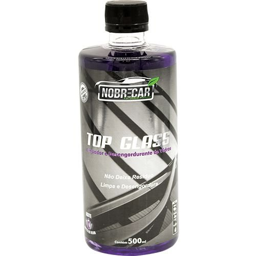 Limpa Vidros Espelhos Automotivo Top Glass Nobre Car 500ml