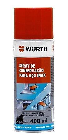Limpa Brilha Inox Manutenção Conserva Aço Inox Wurth