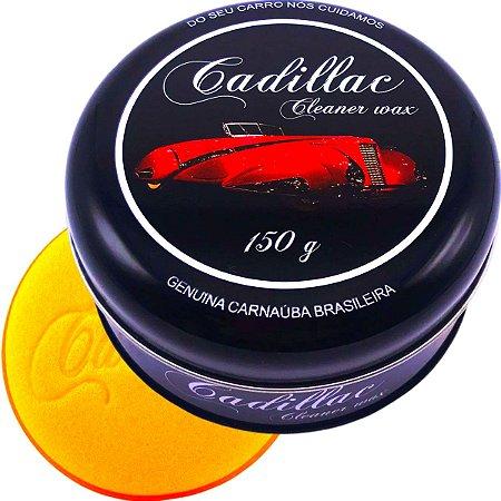 Cera Cadillac Cleaner Wax Com Carnaúba Limpadora 150g