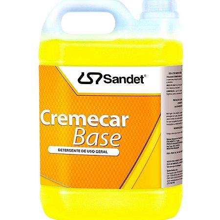 Shampoo Neutro P/ Carro Cremecar Base Concentrado Sandet 5l
