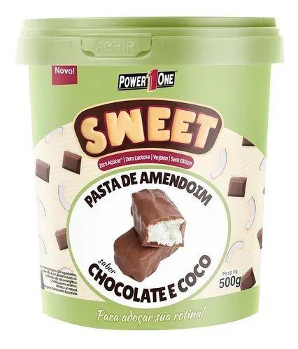 PASTA DE AMENDOIM SWEET CHOCOLATE E COCO POWER ONE 500G