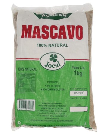 AÇÚCAR MASCAVO 100% NATURAL JOCAL 1KG