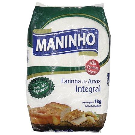FARINHA DE ARROZ INTEGRAL 1KG MANINHO