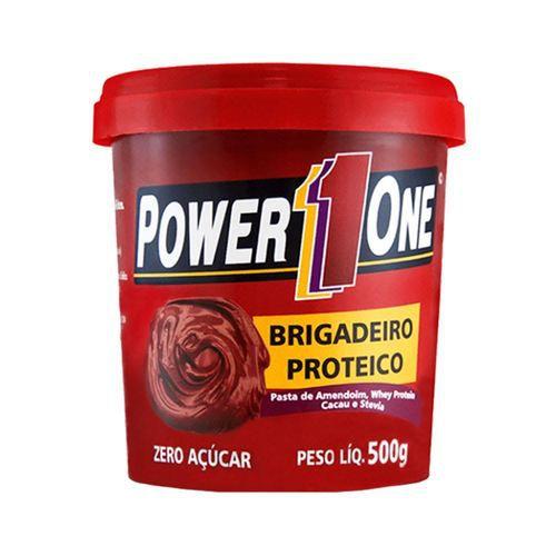 PASTA DE AMENDOIM BRIGADEIRO PROTEICO 500GR POWER ONE