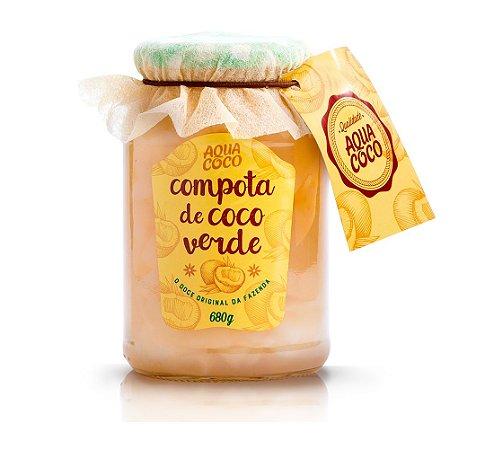 COMPOTA DE COCO VERDE 680G AQUA COCO
