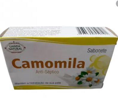 SABONETE NATURAL DE CAMOMILA 90G LIANDA NATURAL