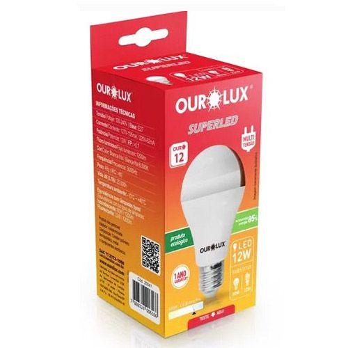 Lâmpada Led 12w Luz Branca Fria 6500k - Ourolux