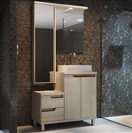 Conjunto Banheiro 90cm - Narita Linho - Ref: 990 - Cewal