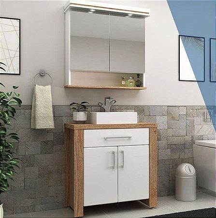 Conjunto Banheiro 80cm - Cânion Rústico - Ref: 130 - Cewal