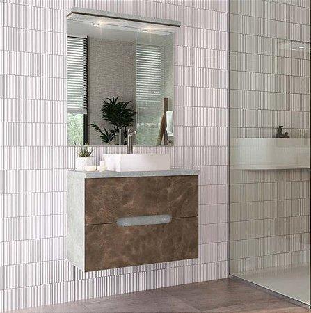 Conjunto para Banheiro 80cm Supenso Ref 810 - Cewal