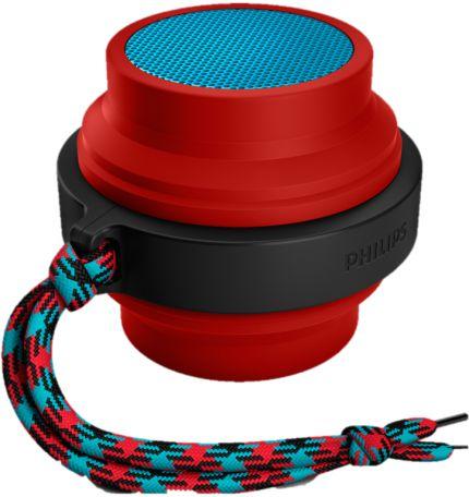 Caixa de Som Bluetooth Philips Bt2000a Vermelha 2W Bateria Recarregável