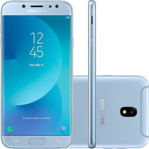 "Smartphone Samsung Galaxy J7 Pro Android 7.0 Tela 5.5"" Octa-Core 64GB 4G Wi-Fi Câmera 13MP - Azul"