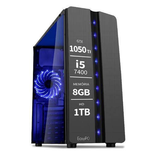 Pc Gamer Moba Box Intel Core i5 7400 7ª Geração 8GB DDR4 Geforce Gtx 1050 Ti HD 1TB 500W EasyPC