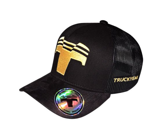 Boné Trucker Truckyeah Black Gold