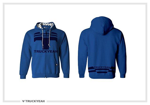 Jaqueta Moleton Ziper Capuz Truckyeah Estampada Blue (Feminino)