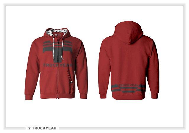 Jaqueta Moleton Ziper Capuz Truckyeah Estampada Red (Masculino)