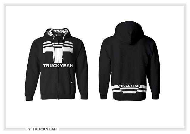 Jaqueta Moleton Ziper Capuz Truckyeah Estampada Black (Feminino)