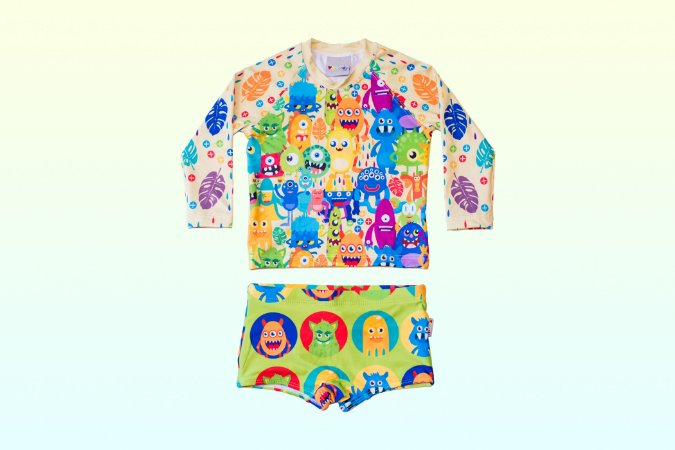 Camisa UV + Sunga - Monstros