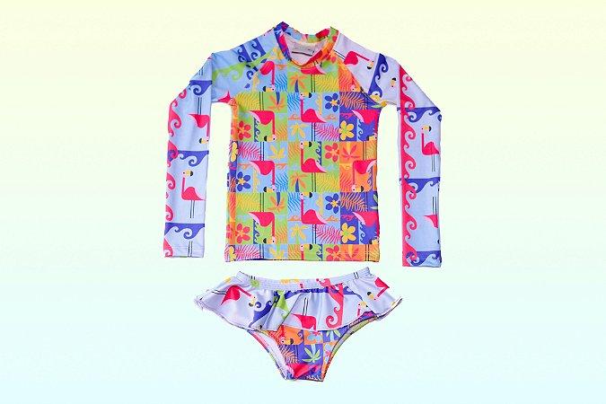 Camisa UV + Calcinha - Flamingo (Edição Especial)