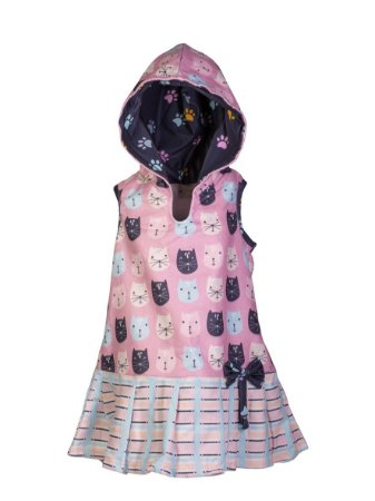 Vestido Toalha - Gatinhas