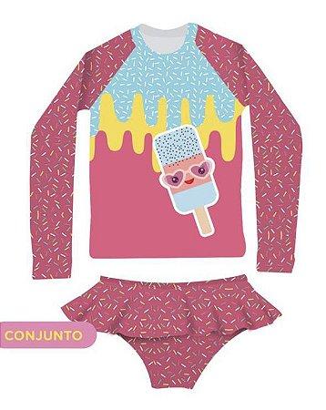 Camisa UV + Calcinha - Sorvete