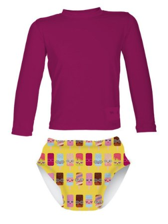 Camisa UV + Biquíni Fralda - Sorvete