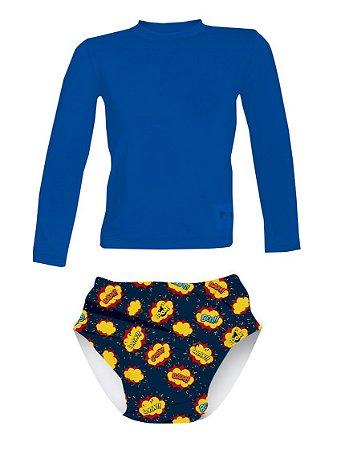 Camisa UV + Sunga Fralda - Novos Heróis
