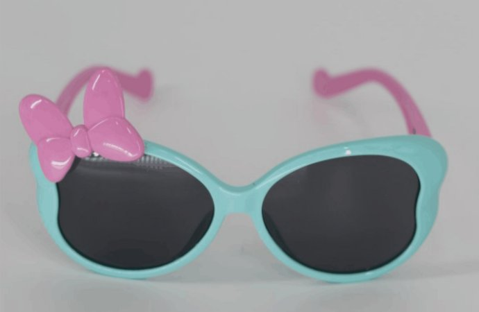 Óculos UV Gatinha Rosa/azul