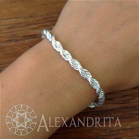 55304c31a5f Pulseira folheada a prata cordão baiano - Alexandrita Semi Joias