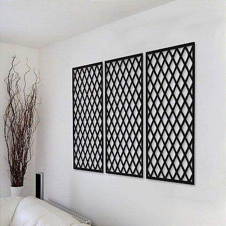 Trio de Painéis Decorativos - Cruzado - P23