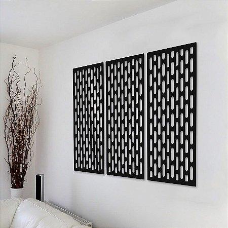 Trio de Painéis Decorativos - Vertical - P27