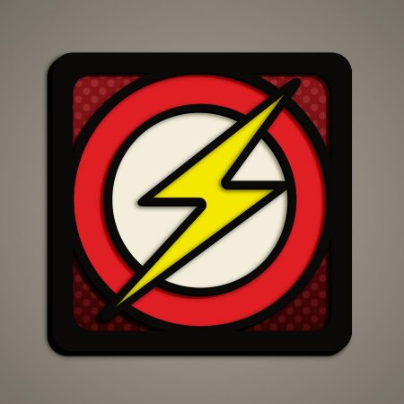 Quadro Herói 3D - Flash