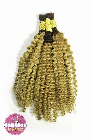 Cabelo Humano Permanentado Descolorido Ombré Hair 30 35 cm 50 grs
