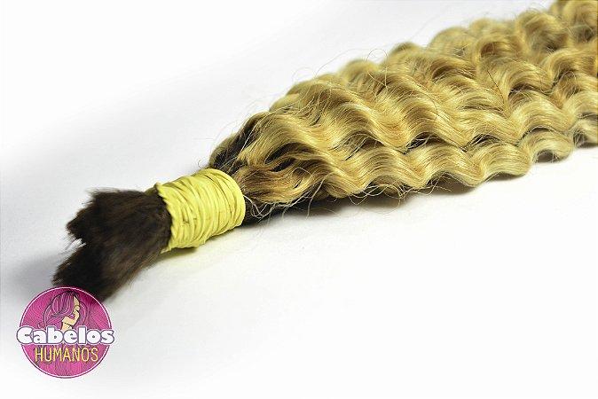 Cabelo Humano Permanentado Descolorido Ombré Hair 50 55 cm 50 grs