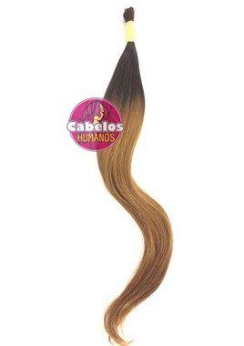 Cabelo Humano Premium Ombré Hair Preto / Mel Escuro 60 65 cm 50 grs
