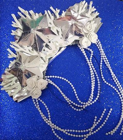 Tiara de Carnaval de Sereia Luxo toda em EVA.