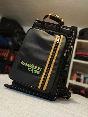 Bag de Baquetas Couro Luxo - Preto com Amarelo