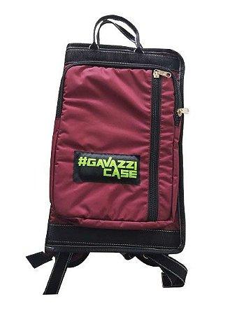 Bag de Baquetas Nylon Luxo - Vinho