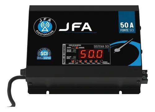 Fonte Carregador De Bateria JFA 50A SCI Com Display 500w Rms