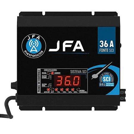 Fonte Carregador De Bateria JFA 36A SCI Com Display 500w Rms