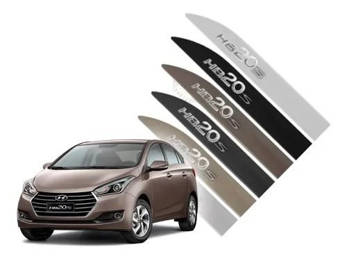Friso Lateral Hyundai Hb20s Prata Metal Todos Anos Cromado
